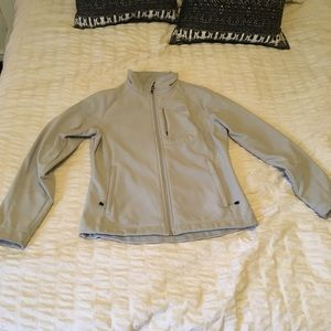 North face fleece-lined jacket